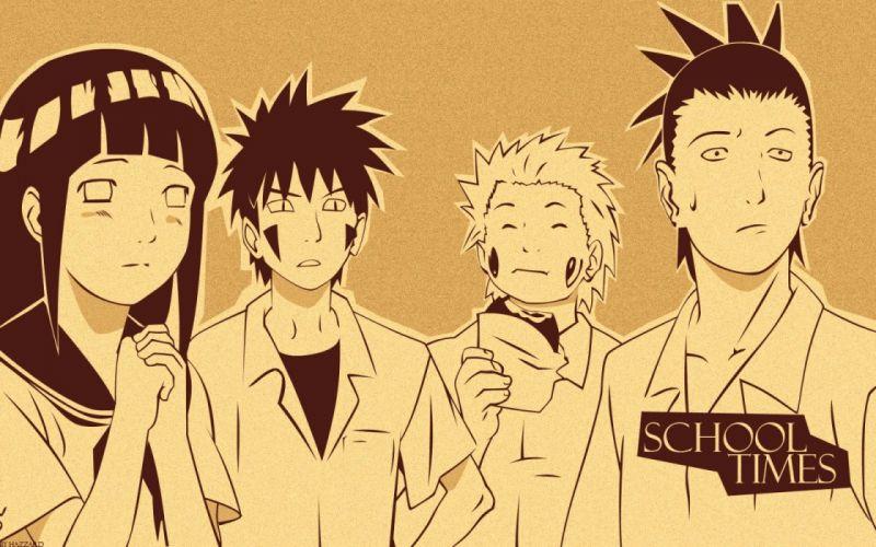Naruto: Shippuden Shikamaru Nara Hyuuga Hinata Choji Akimichi Kiba Inuzuka wallpaper