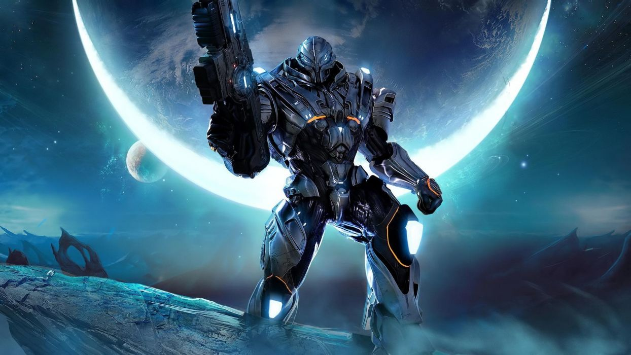 outer space robots fantasy art Section 8 space wallpaper