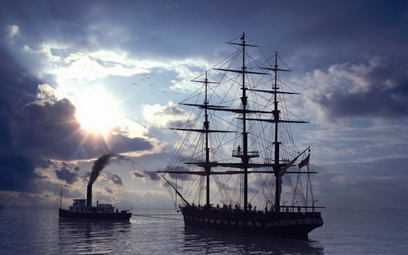 steam ships sail ship sailing sails wallpaper