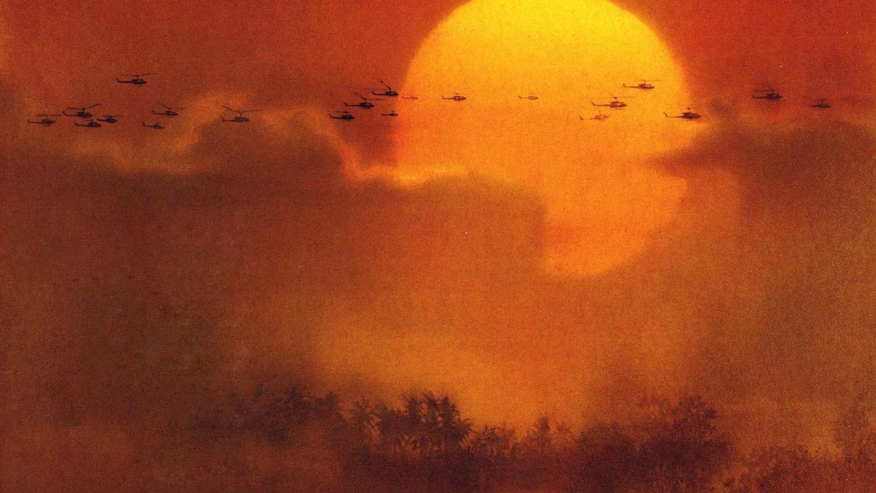 Apocalypse Now chopper skies suns wallpaper