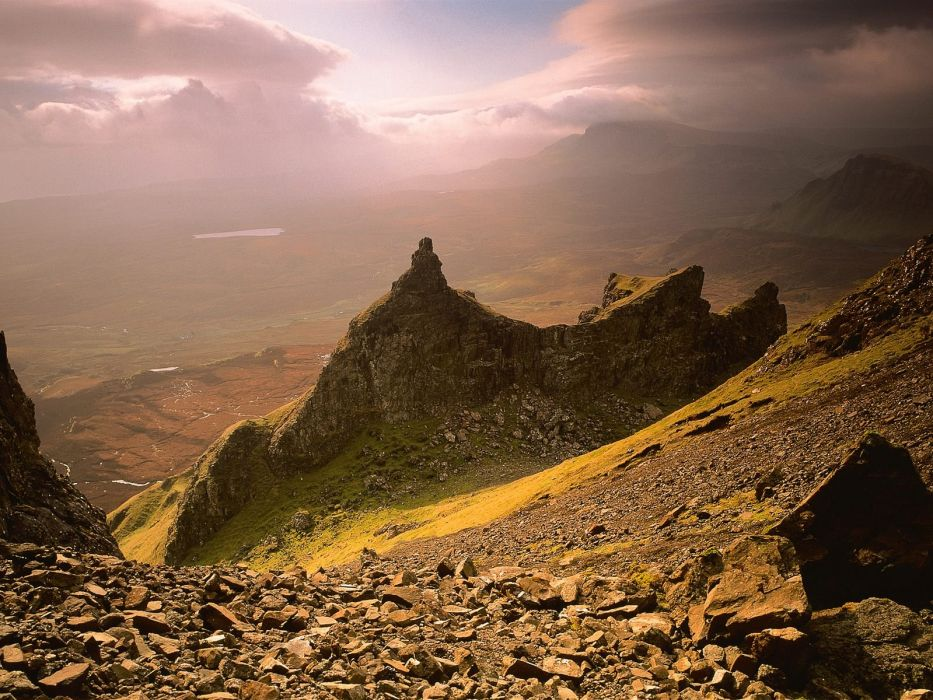 mountains clouds Scotland skyscapes wallpaper