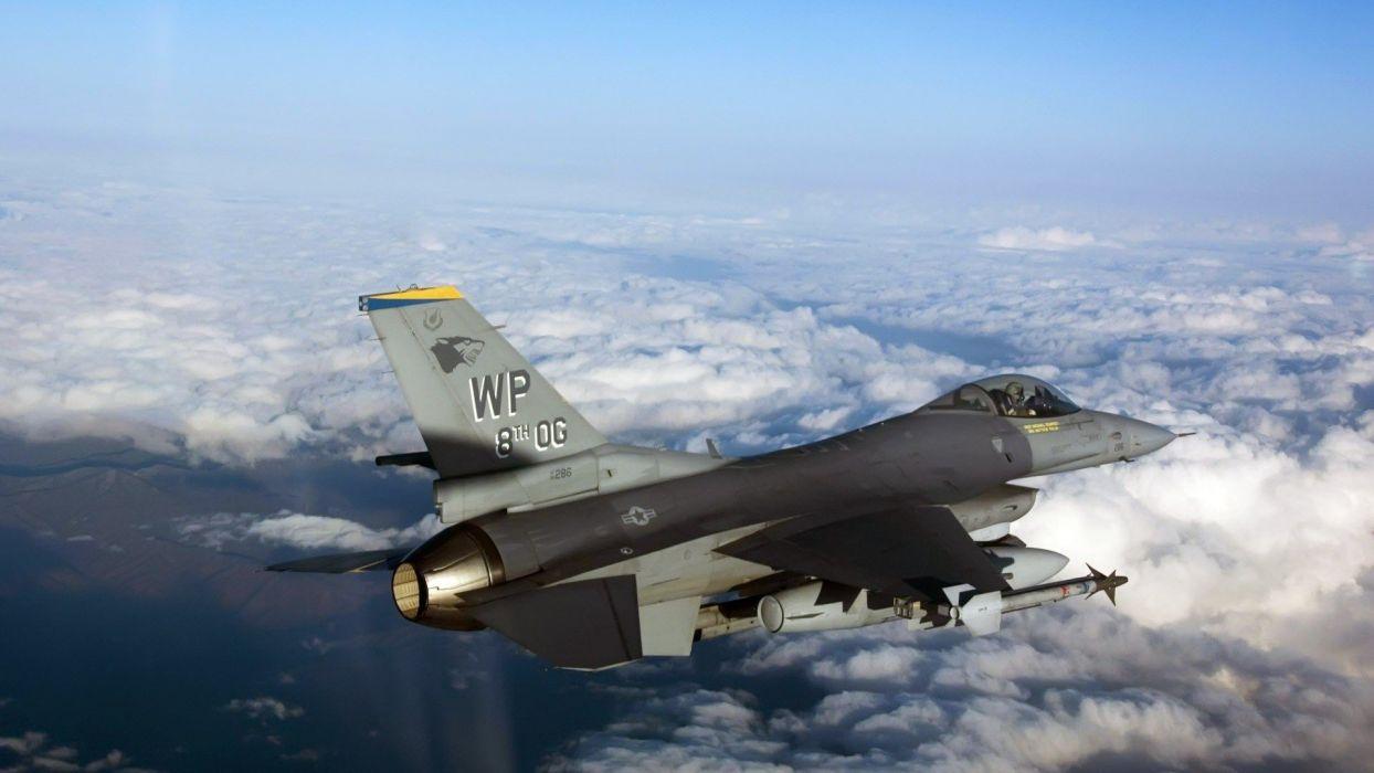 aircraft war F-16 Fighting Falcon wallpaper
