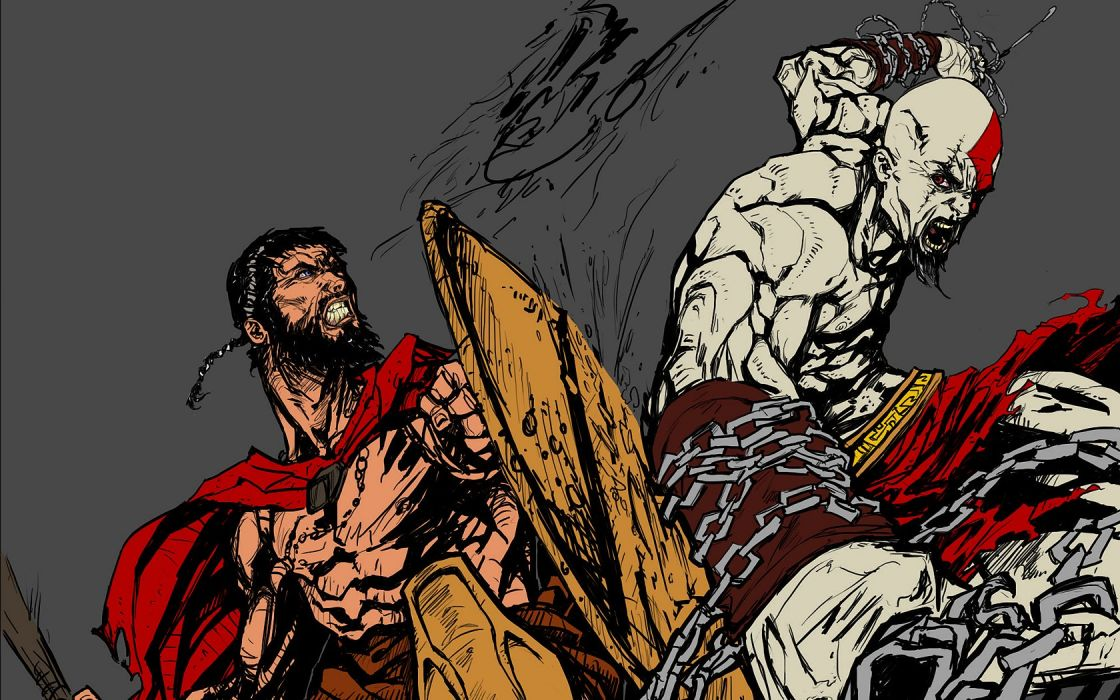 300 (movie) Leonidas Sparta God of War wallpaper