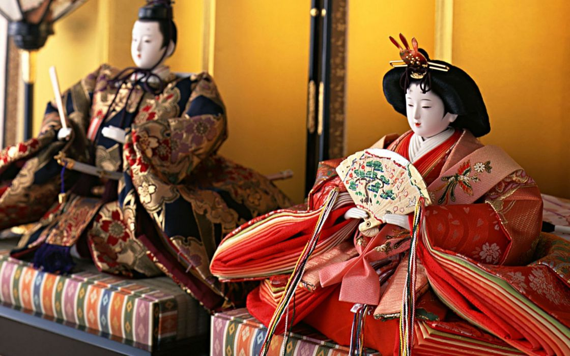 Japanese dolls Japanese clothes traditional  wallpaper