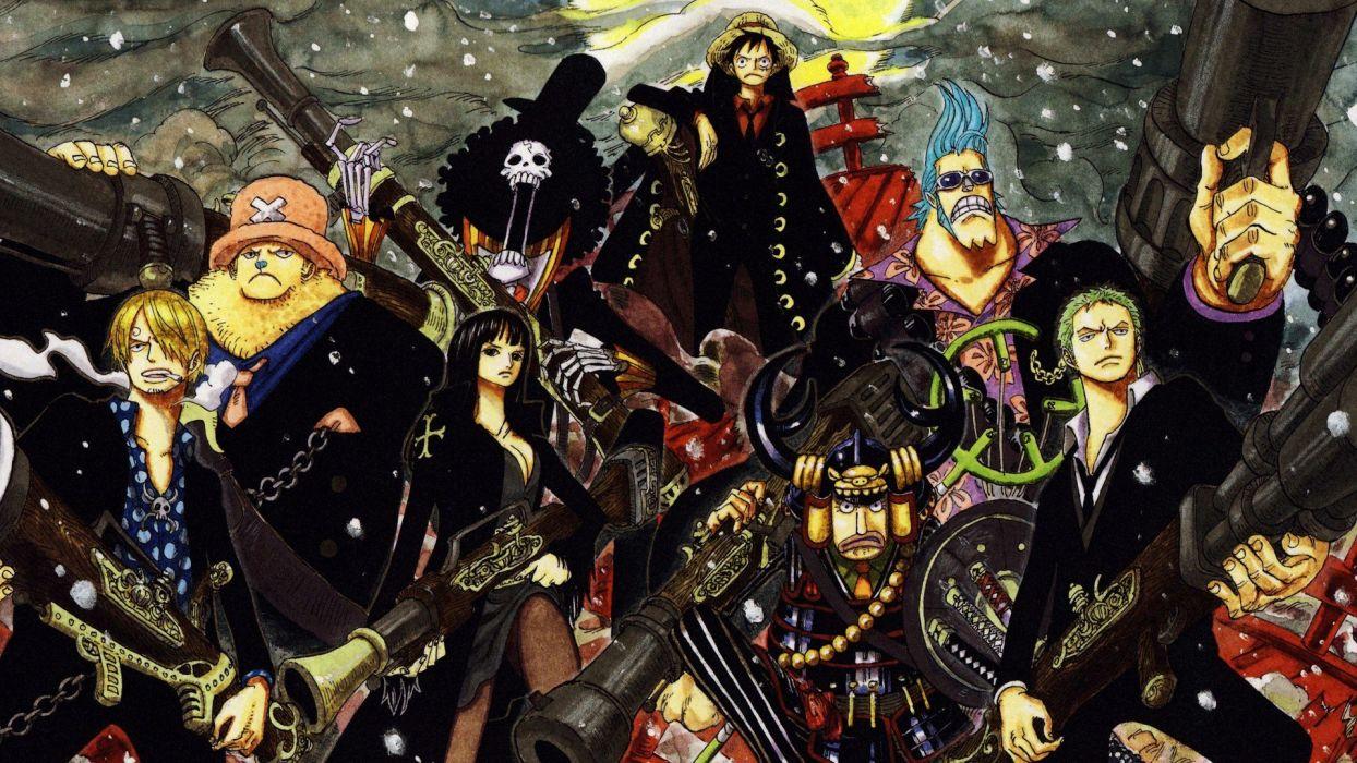 One Piece (anime) Nico Robin Roronoa Zoro artwork anime Franky (One Piece) Tony Tony Chopper Brook (One Piece) Monkey D Luffy Usopp Sanji (One Piece) wallpaper