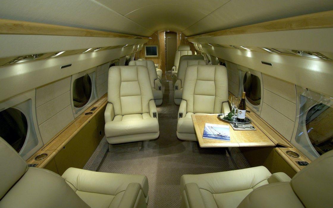jet aircraft interior design wallpaper