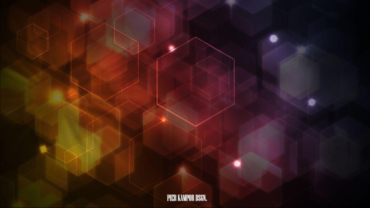 abstract hexagons shapes wallpaper