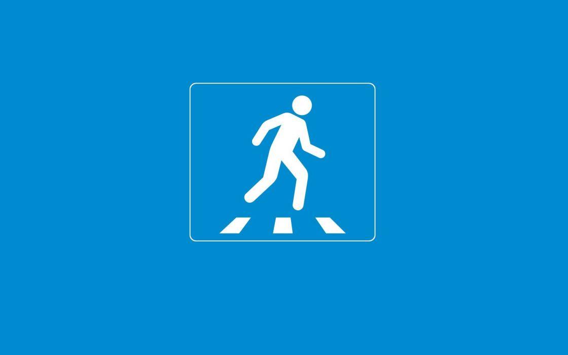 minimalistic road sign wallpaper