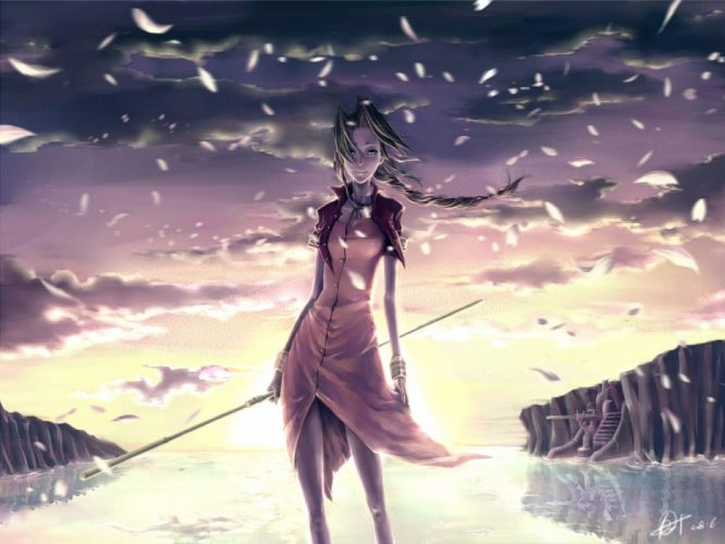 Final Fantasy VII anime girls wallpaper