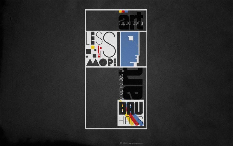 design typography bauhaus artwork tribute wallpaper