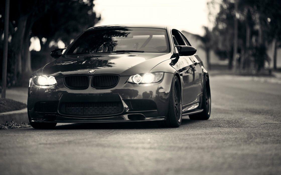 BMW lights cars grayscale BMW M3 wallpaper