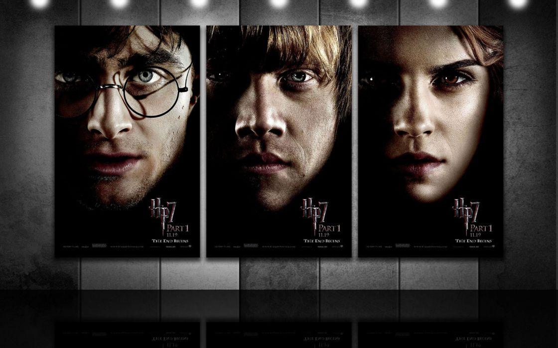 Emma Watson Harry Potter Harry Potter and the Deathly Hallows Daniel Radcliffe Rupert Grint Hermione Granger Ron Weasley wallpaper