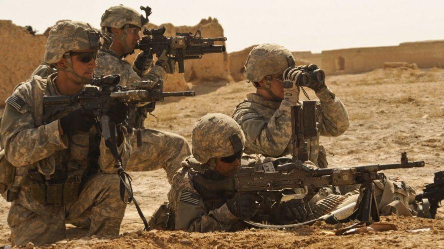 soldiers war guns army Afghanistan US Marines Corps US Army soldat ACOG M240 Elcan Optical Technologies wallpaper