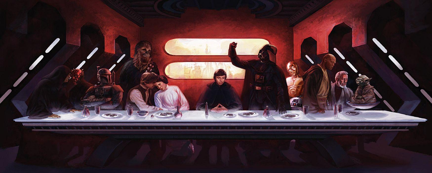 Star Wars The Last Supper wallpaper