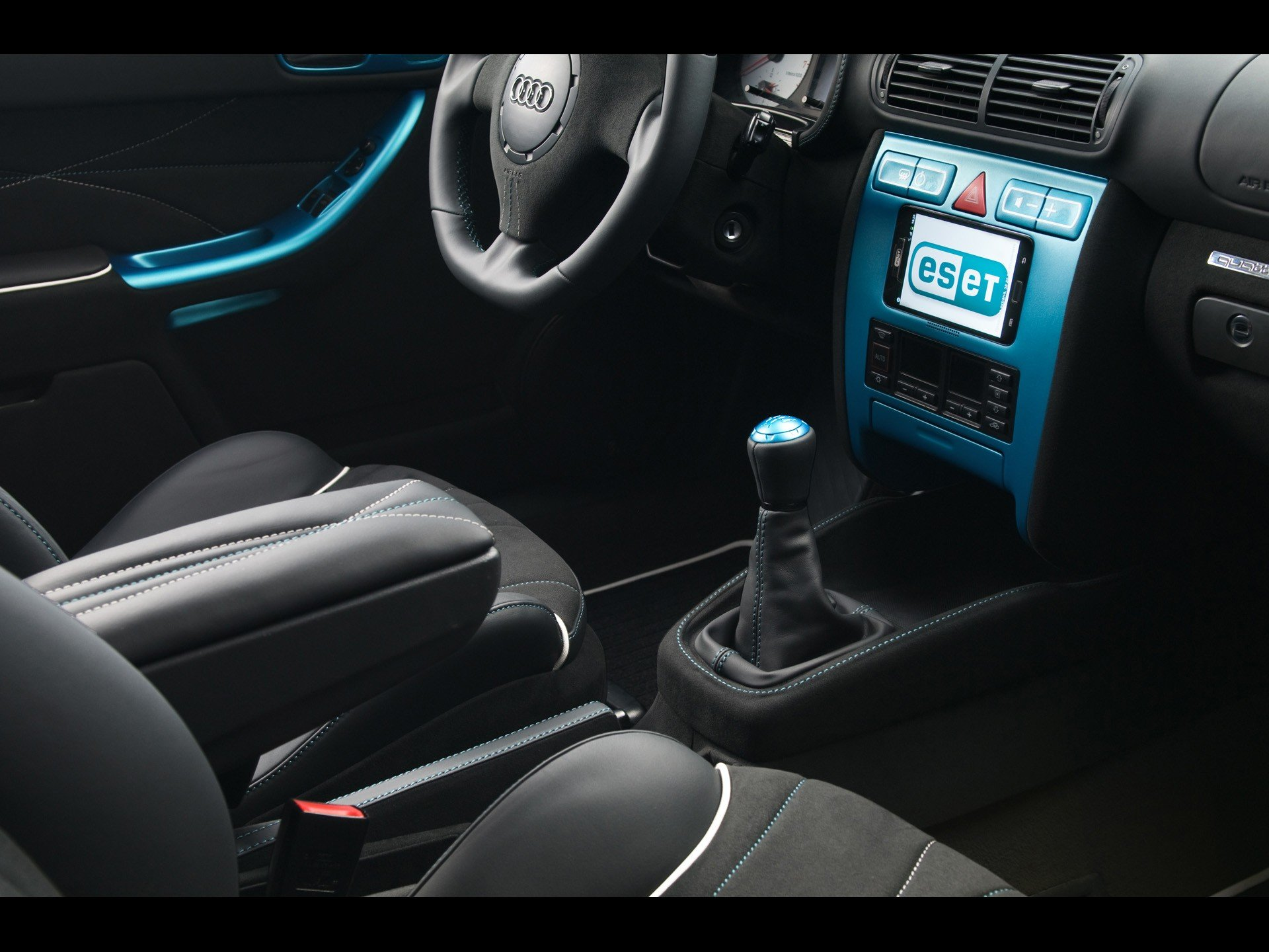 cars console interior tuning audi a3 eset wallpaper 1920x1440 257845 wallpaperup. Black Bedroom Furniture Sets. Home Design Ideas