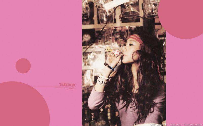 women Girls Generation SNSD celebrity headbands Tiffany Hwang wallpaper