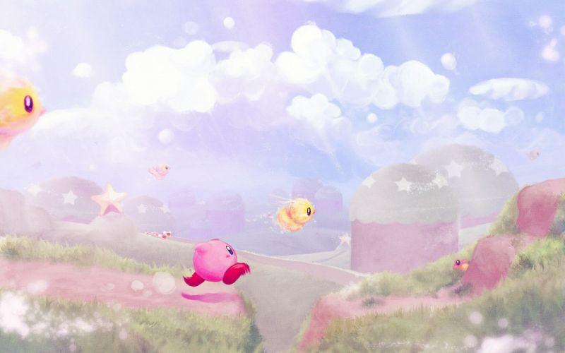 Nintendo Kirby landscapes wallpaper