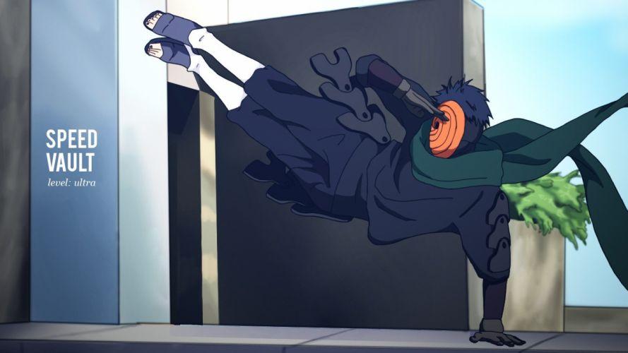 Naruto: Shippuden vault parkour anime manga Tobi salute wallpaper