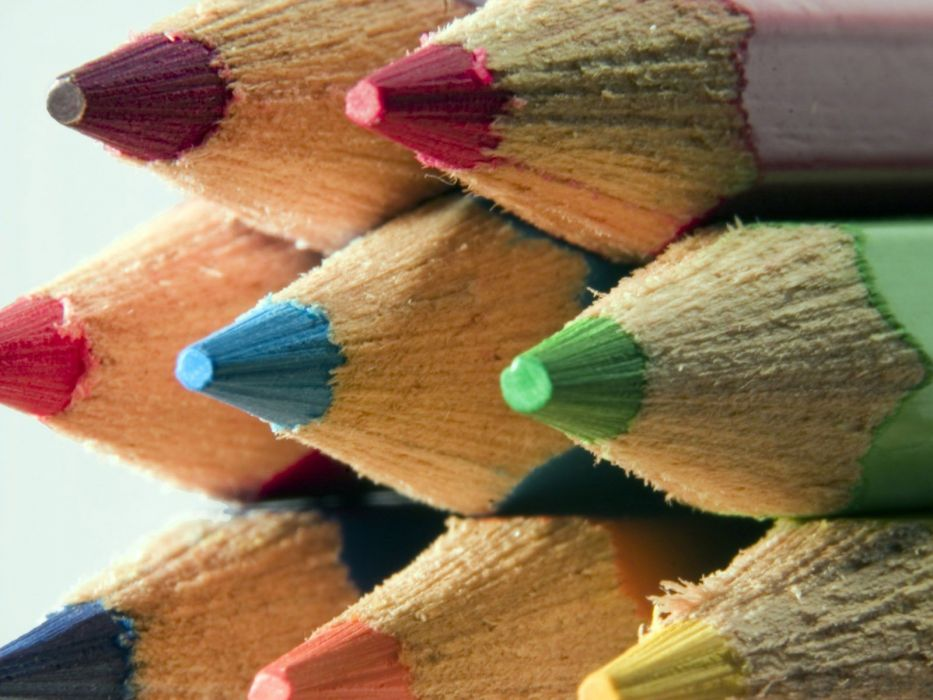 macro pencils white background colors colored pencils wallpaper