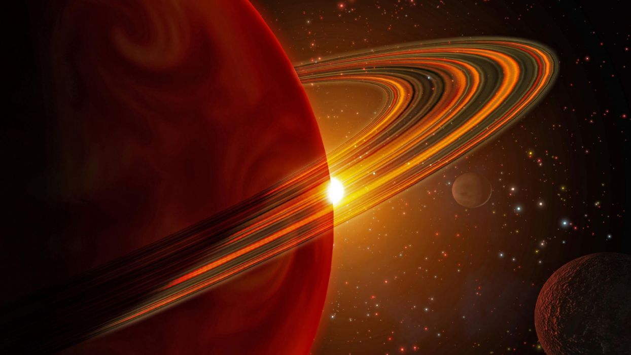 Outer Space Saturn Wallpaper 1920x1080 257897 Wallpaperup