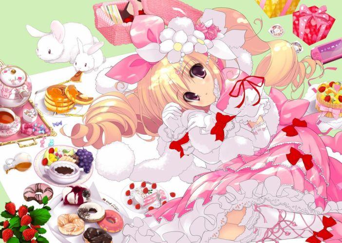 women food blush lolita fashion anime girls wallpaper