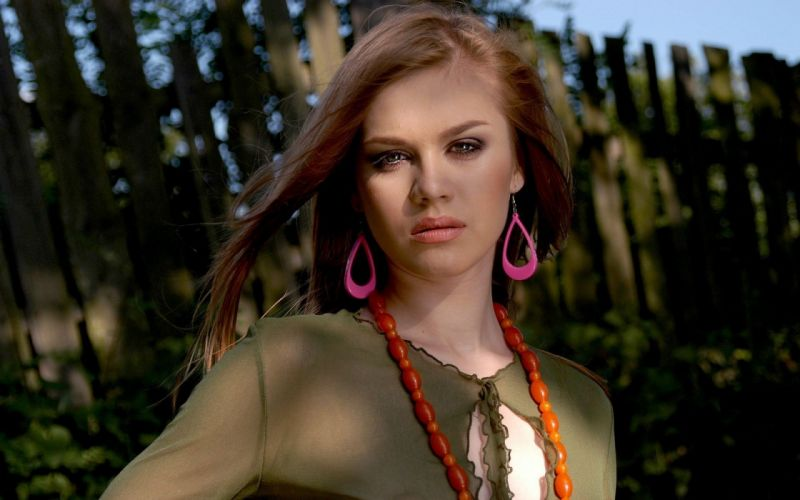 women redheads outdoors Darinka wallpaper