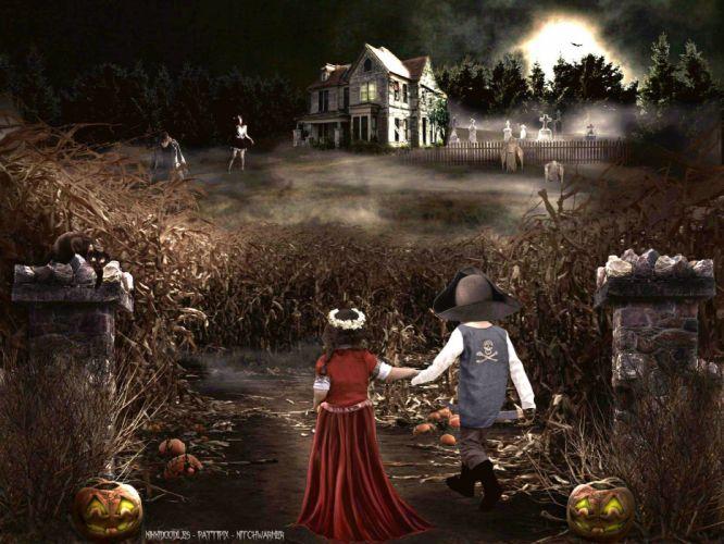 TRICK R TREAT horror thriller dark halloween movie film (3) wallpaper