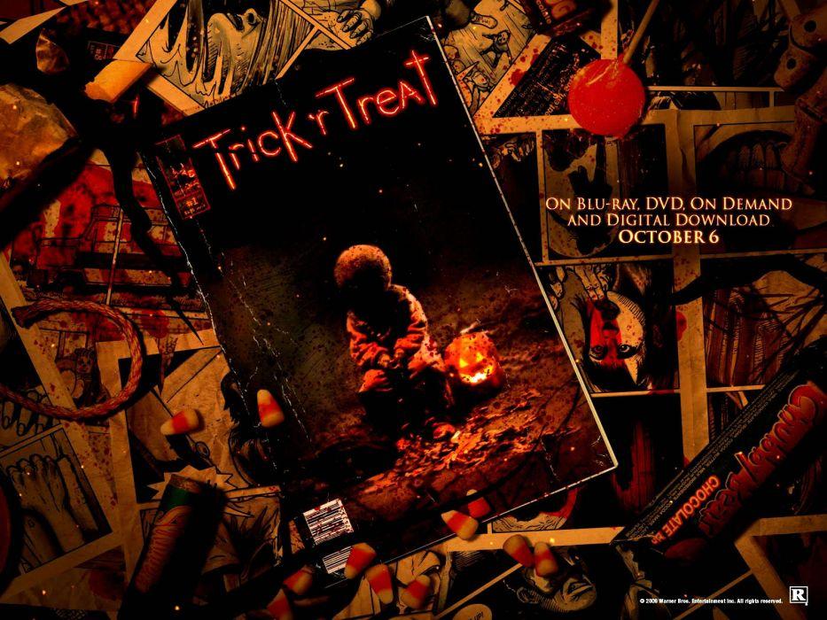 TRICK R TREAT horror thriller dark halloween movie film (25) wallpaper