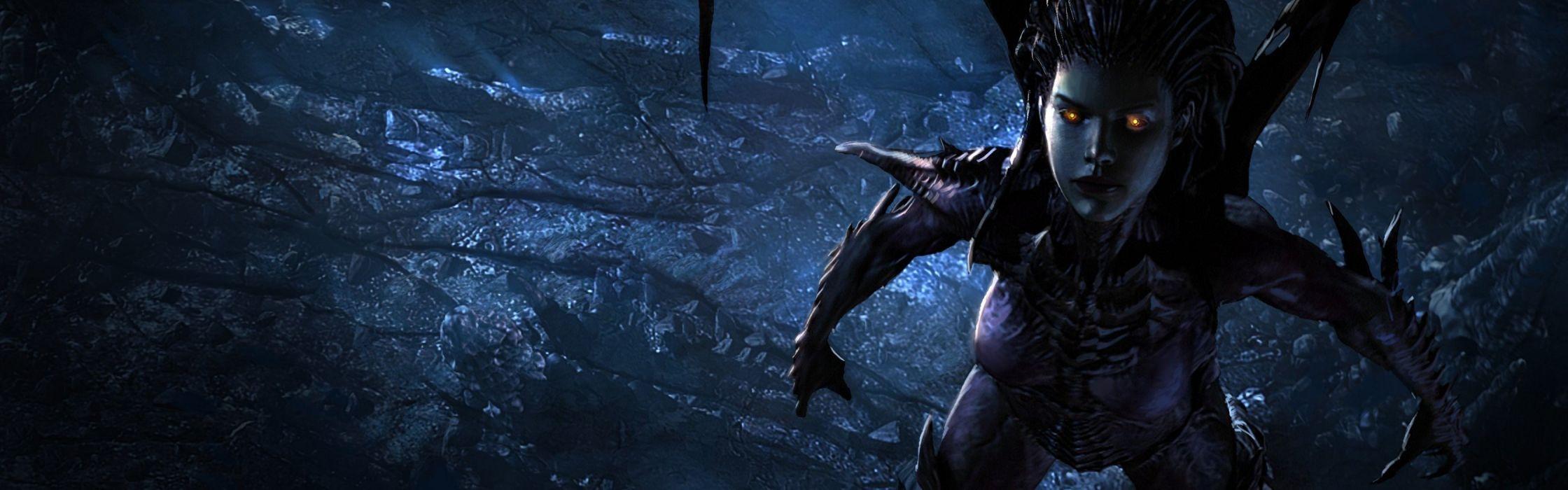 video games CGI StarCraft II wallpaper