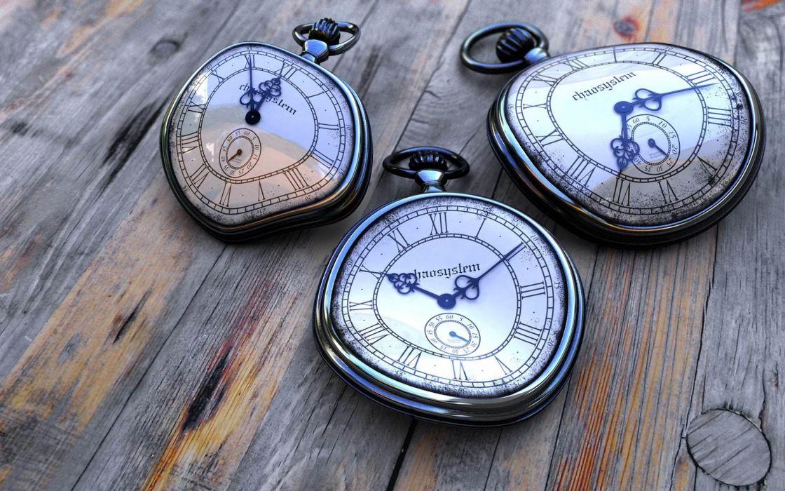 old clocks fantasy art HDR photography wallpaper