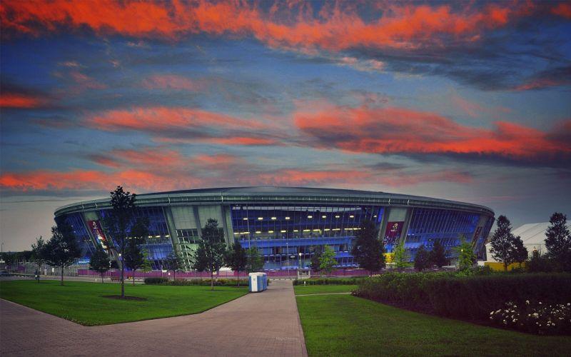sunset soccer Ukraine Donbass arena ukraine premier league Ukrainian Donetsk wallpaper