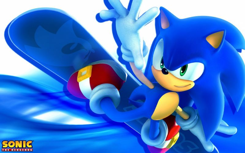 Sonic the Hedgehog video games snowboarding Game characters Sonic Team wallpaper