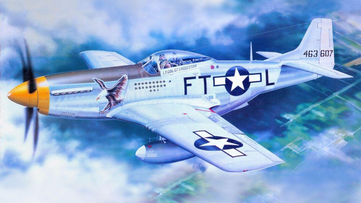 aircraft military aviation air force air P-51 Mustang USAF wallpaper