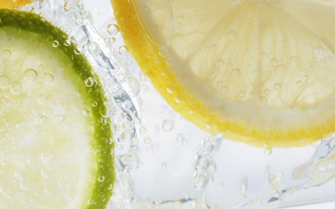 water fruits macro lemons wallpaper