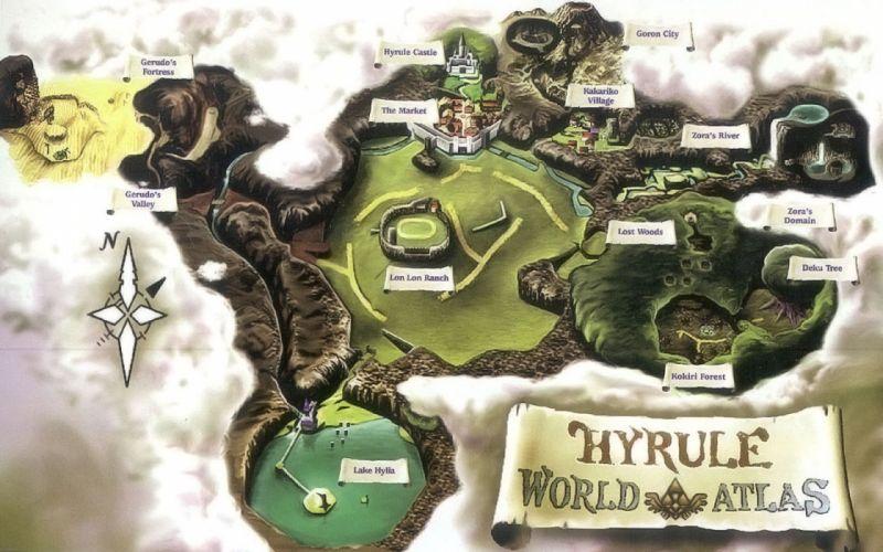 video games Hyrule The Legend of Zelda maps wallpaper