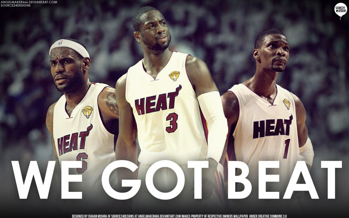 NBA Lebron James beat Dwyane Wade Chris Bosh Miami Heat wallpaper