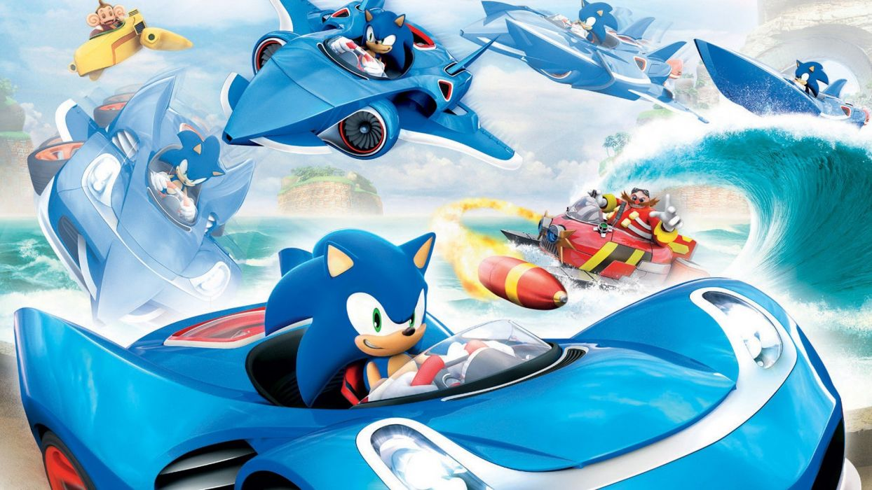 war Sonic sonic allstar racing wallpaper