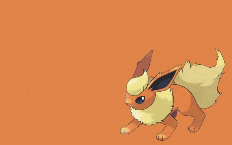 Pokemon Flareon simple background wallpaper