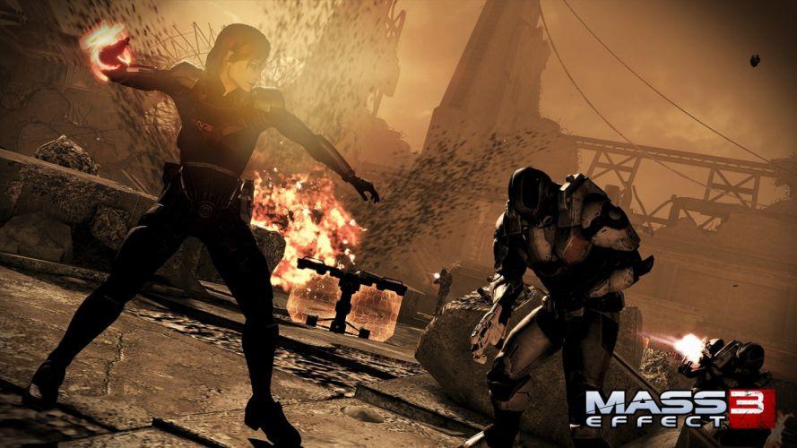 video games Mass Effect 3 FemShep wallpaper