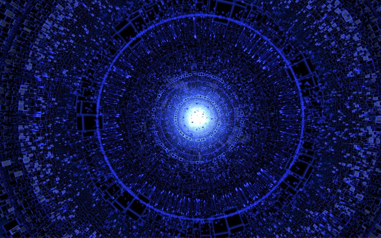 Blue Spirals Wallpapers: Light Abstract Blue Spiral Digital Art Wallpaper