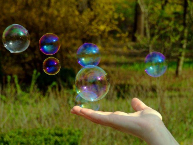 nature soap bubbles wallpaper