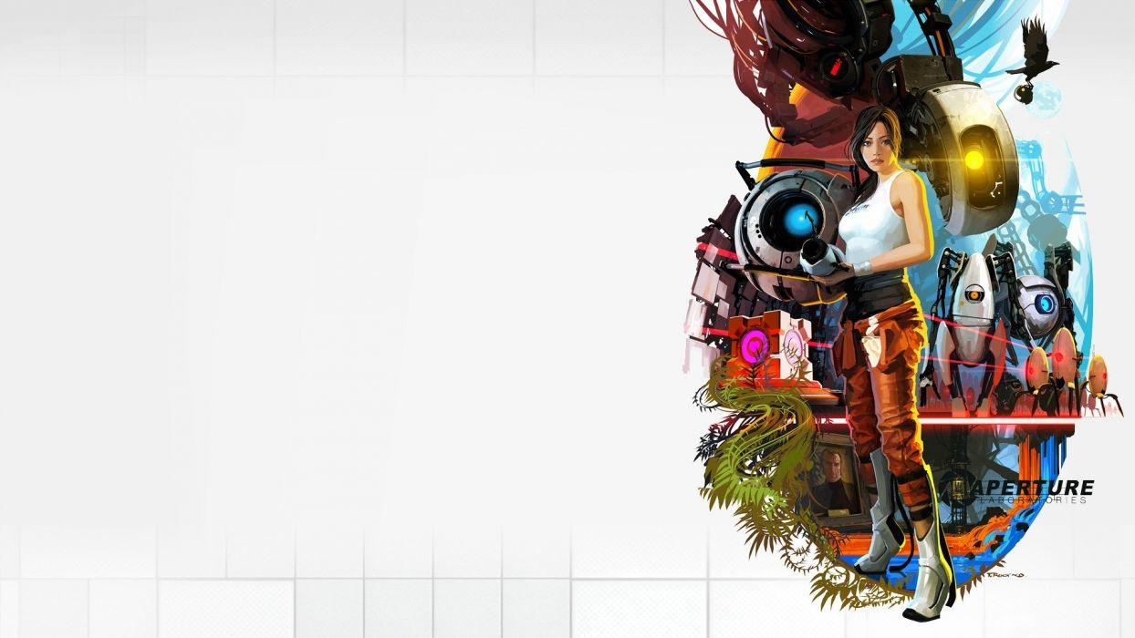 Xbox Aperture Laboratories Portal 2 Playstation 3 game wallpaper