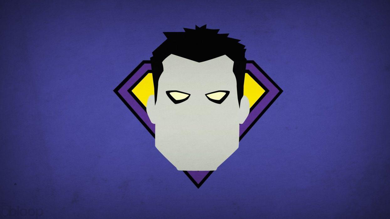 minimalistic DC Comics Bizarro purple background villians blo0p wallpaper