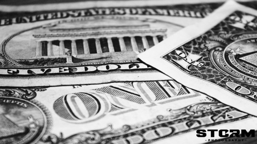 black white money dollar bills Dollars wallpaper