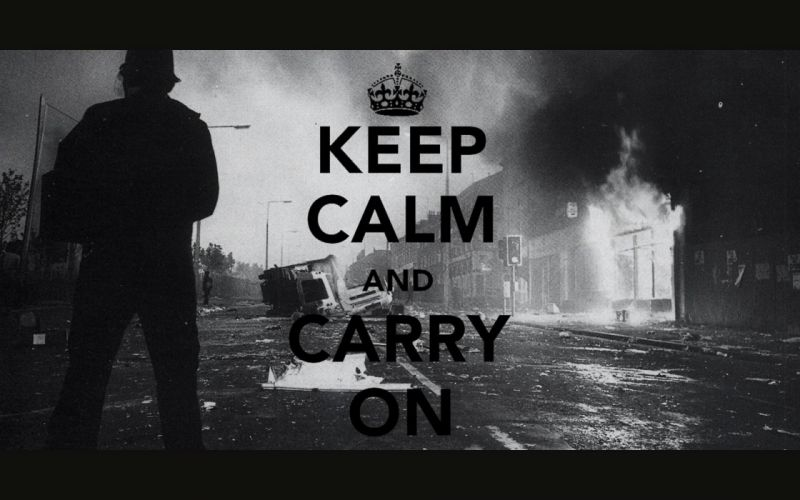 police grayscale Keep Calm and wallpaper