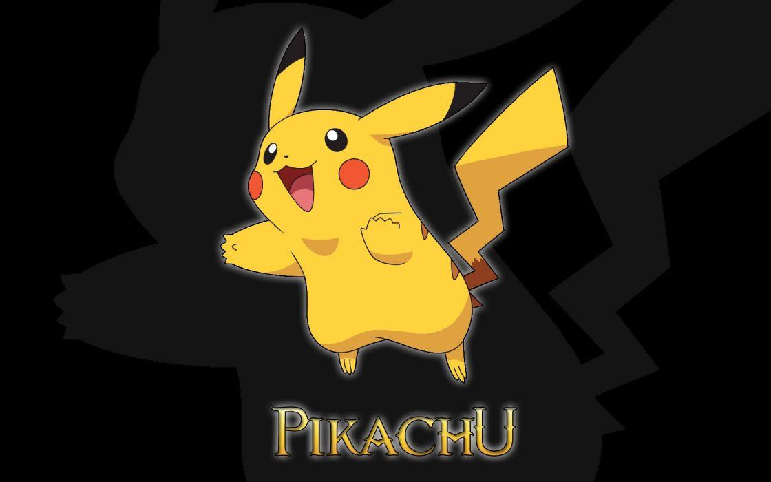 Pokemon Pikachu black background wallpaper