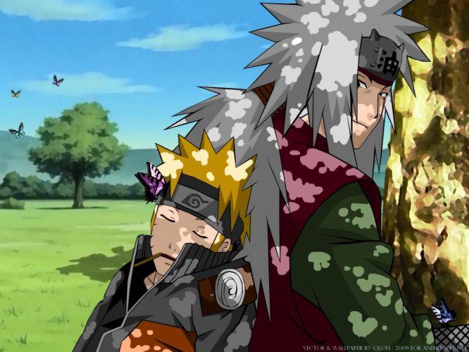 Naruto: Shippuden Uzumaki Naruto Jiraiya wallpaper