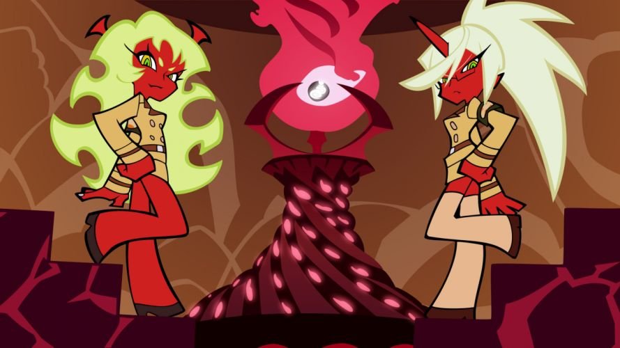 Panty and Stocking with Garterbelt Kneesocks (character) Scanty (character) wallpaper