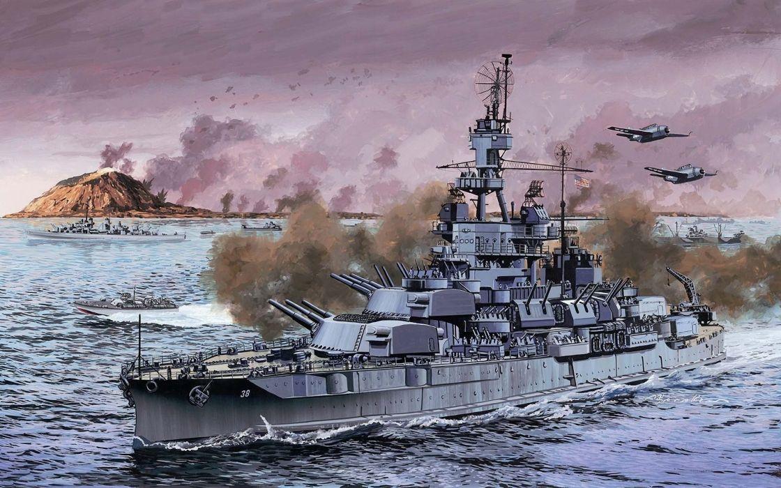 war military battleships USS Pennsylvania wallpaper