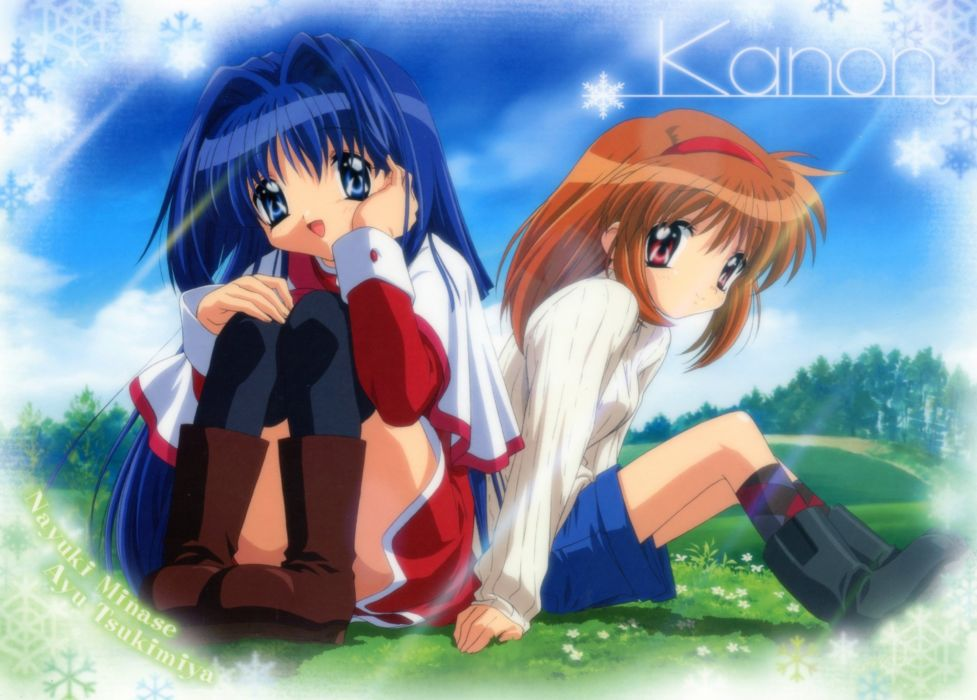 Kanon Tsukimiya Ayu anime girls Nayuki Minase wallpaper